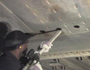 corrosion removal dry ice blasting