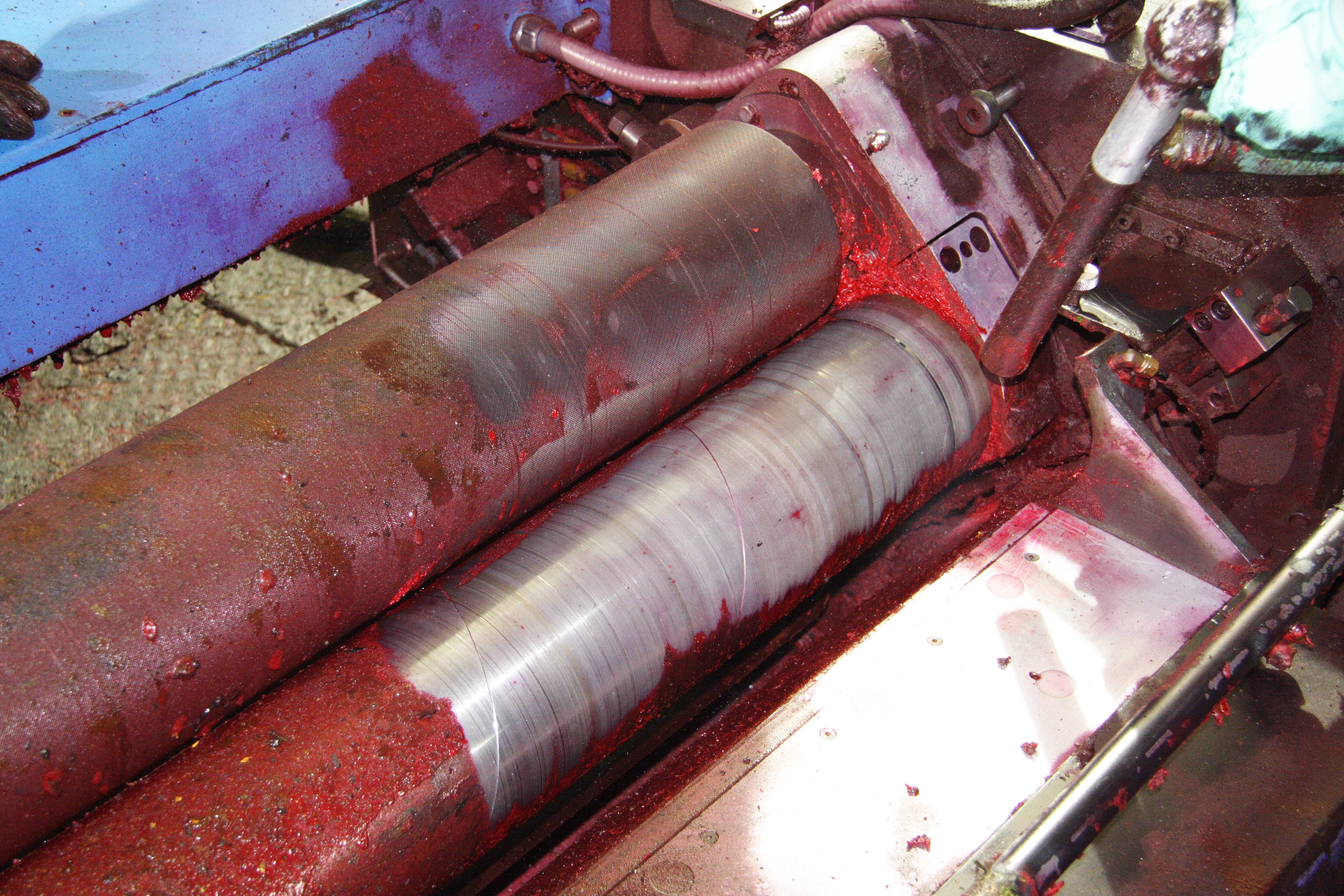 Dry ice blasting printer roller